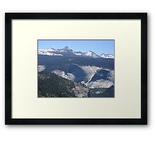 Panoramic View of Yosemite Valley Framed Print