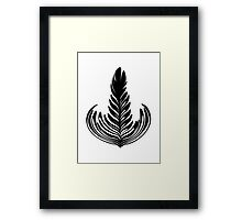 Rosetta black Framed Print