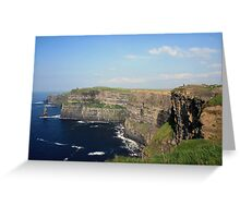 Cliffs of Moher view 2 Greeting Card