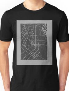 computer chip sidewalk, in grey Unisex T-Shirt