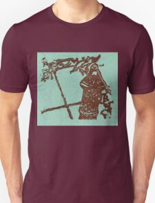 brown and blue hydrant Unisex T-Shirt