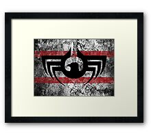 Blood Eagle - Weathered Banner Framed Print
