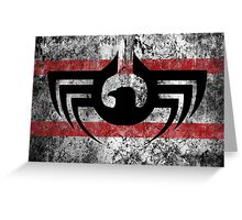 Blood Eagle - Weathered Banner Greeting Card