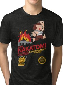 Super Nakatomi Tower Tri-blend T-Shirt