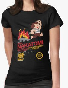 Super Nakatomi Tower Womens Fitted T-Shirt