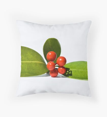 Christmas berries 3 Throw Pillow