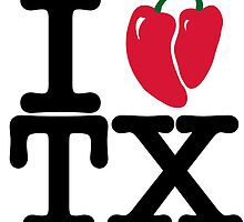 I Heart Texas in chilis by Spiralenvy