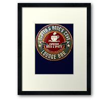 SCOTTY AND BONE'S COVE VINTAGE SIGN Framed Print