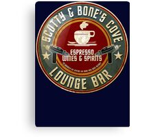 SCOTTY AND BONE'S COVE VINTAGE SIGN Canvas Print