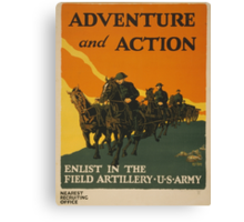Adventure and Action (Reproduction) Canvas Print