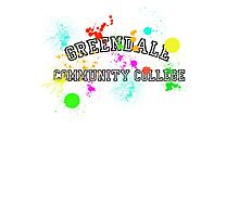 Greendale Community College - Paintball Photographic Print