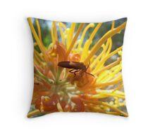Bright Bug Throw Pillow