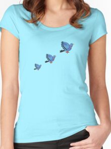 Flying Pigeons Women's Fitted Scoop T-Shirt