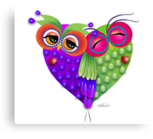 Owl´s love Canvas Print