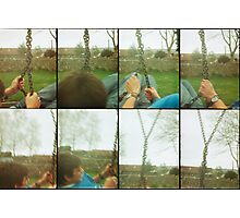 Dave on the swing Photographic Print