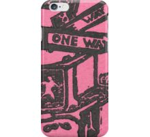 black and pink street signs iPhone Case/Skin