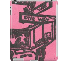 black and pink street signs iPad Case/Skin
