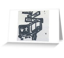 black and silver street signs Greeting Card