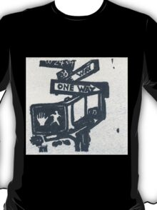 black and silver street signs T-Shirt