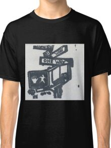 black and silver street signs Classic T-Shirt