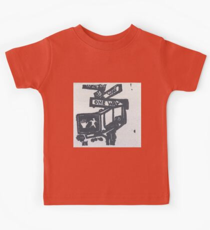 black and silver street signs Kids Tee