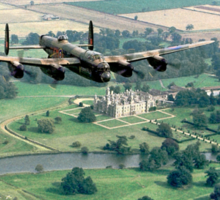 """Lancaster B.1 """"City of Lincoln"""" over Burghley House Sticker"""
