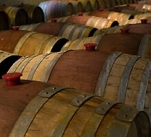 Wine Barrels by Jeanne Frasse