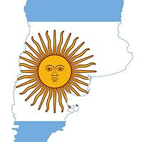 Flag Map of Argentina  by abbeyz71