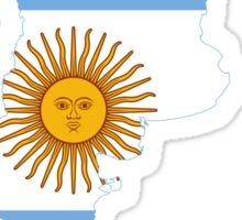 Flag Map of Argentina  Sticker