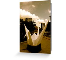 Crane - Hiroshima Peace Park Greeting Card