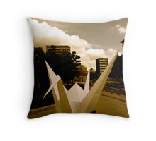 Crane - Hiroshima Peace Park Throw Pillow
