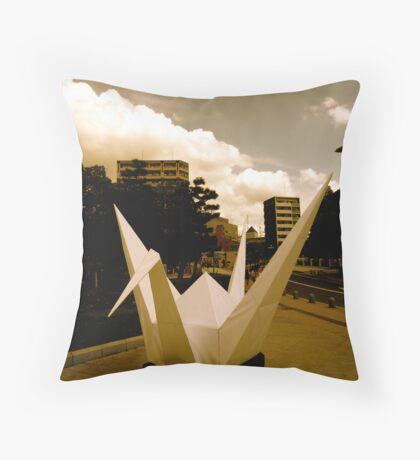 Crane - Hiroshima Peace Park Throw Pillow