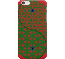 Red Flower of Life Yin & Yang  iPhone Case/Skin