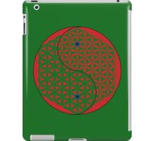 Red Flower of Life Yin & Yang  iPad Case/Skin