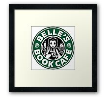 Belle's Book Cafe Framed Print