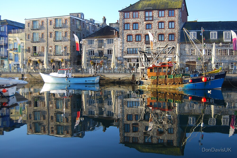 Plymouth Barbican Harbour and Fishing Boats by DonDavisUK