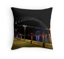 Sydney City from the corner Throw Pillow