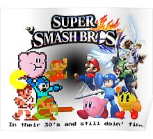 NES vs. Wii U/3DS 'Never Old' Sticker Poster
