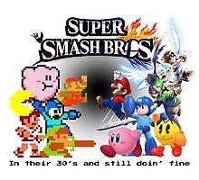 NES vs. Wii U/3DS 'Never Old' Sticker Photographic Print