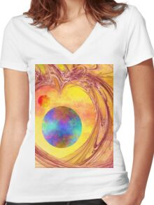 Another World-Available As Art Prints-Mugs,Cases,Duvets,T Shirts,Stickers,etc Women's Fitted V-Neck T-Shirt