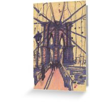 brooklyn bridge, front view Greeting Card