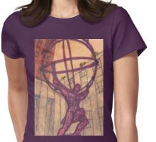 atlas holding the world Womens Fitted T-Shirt