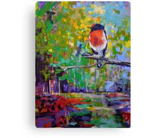 Red Crested Robin in Paradise  Canvas Print