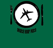 Aviate your plate Womens Fitted T-Shirt