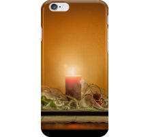 Christmas still life composition on a wooden table iPhone Case/Skin