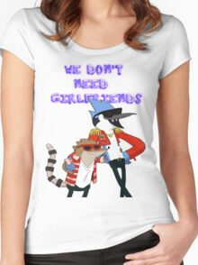 WE DON'T NEED GIRLFRIENDS. Women's Fitted Scoop T-Shirt