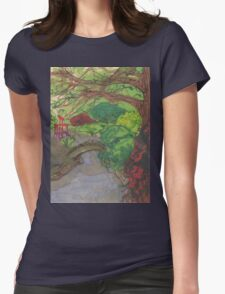 bk botanic garden bridge Womens Fitted T-Shirt
