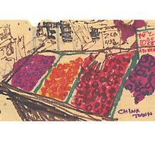 chinatown fruit stand Photographic Print