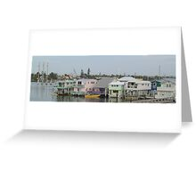 Key West Houseboats Greeting Card