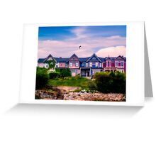 Four Homes on a Hill Greeting Card
